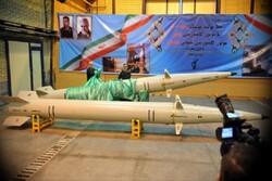 """İran'ın yerli üretimi olan """"Raad-500 füzesi"""" tanıtıldı"""