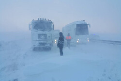 VIDEO: Roads closed due to blizzard, snow in NW Iran