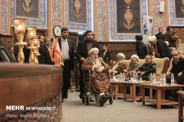 مراسم اربعین شهید سردار سلیمانی و ابومهدی المهندس در قم
