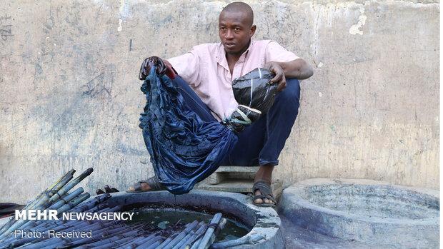 رنگرزی سنتی پارچه در نیجریه