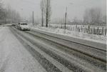 بارش برف و باران در محورهای مواصلاتی ۱۶ استان
