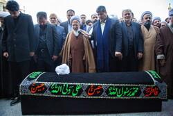 قم میں آیت اللہ طبرسی کی تشییع جنازہ