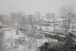 بارش خفیف برف در محور کندوان