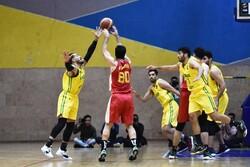 دیدار تیم های بسکتبال پالایش نفت آبادان و شهرداری گرگان