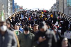 راهپیمایی ۲۲ بهمن در کمال امنیت و پر شور برگزار شد