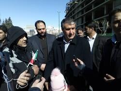 مشاركة المسؤولين الايرانيين في مسيرة عيد انتصار الثورة الاسلامية/صور