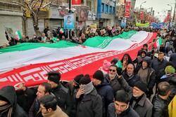 Zencan'daki 11 Şubat yürüyüşlerinden kareler
