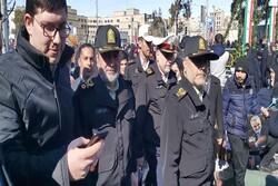 راهپیمایی ۲۲ بهمن در کمال امنیت و پرشور برگزار شد