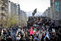 Tahran'daki 11 Şubat yürüyüşlerinden fotoğraflar