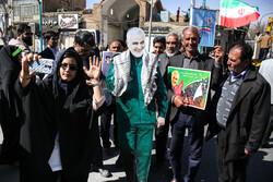 مسيرات لاحياء الذكرى ال41 لانتصار الثورة الاسلامية في مدينة يزد