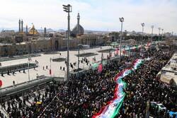 قم میں انقلاب اسلامی کی سالگرہ کی مناسبت سے عظيم الشان ریلی