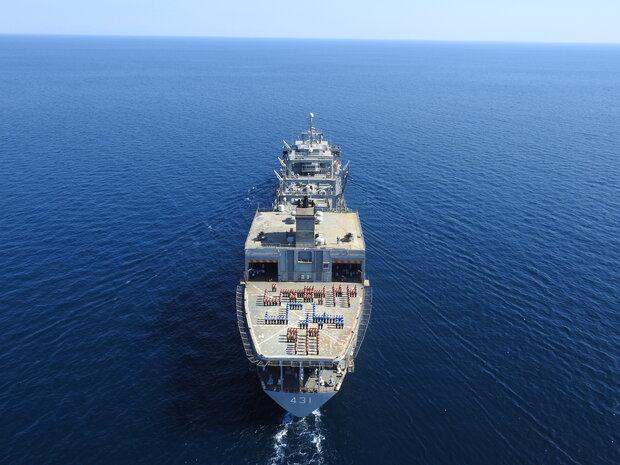 اقتدار نیروی دریایی ارتش با حضور در رژه دریایی روسیه