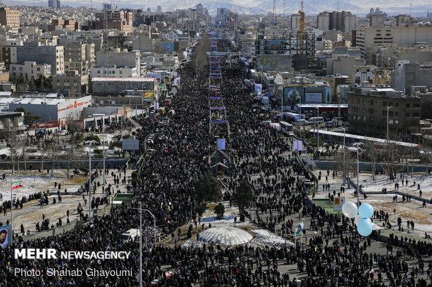 راهپیمایی باشکوه ۲۲ بهمن - برج آزادی