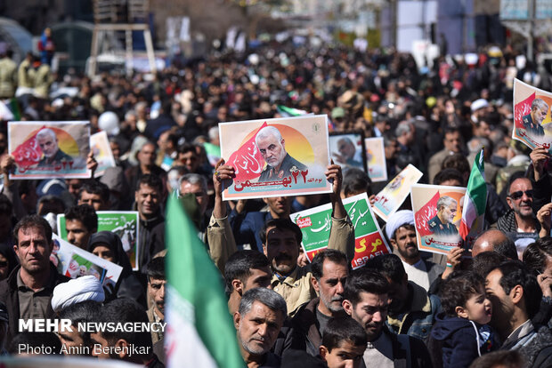 VIDEO: People of Shiraz voice support for Islamic Revolution