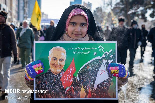 February-11 rallies in Karaj, Alborz province