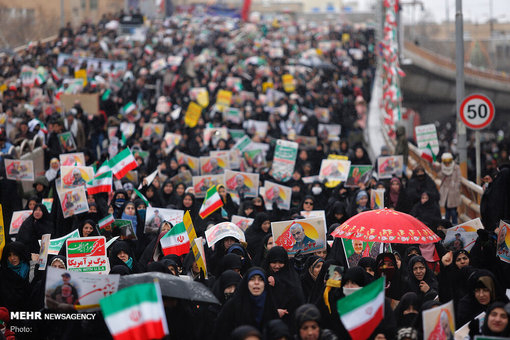 Hemedan halkı İslam Devrimi'ne desteğini yineledi