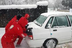 امدادرسانی به ۳۵۰۰ نفر در برف اخیر اردبیل