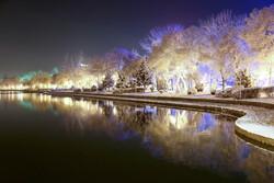 Erdebil'in karlı kış geceleri