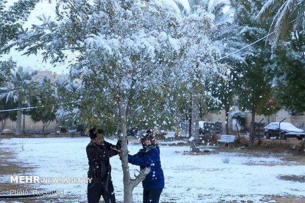 فرحة العراقيين بالثلوج بعد انقطاع طويل