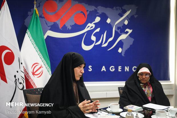 نشست مشترک زهره الهیان و فاطمه رهبر نامزدهای انتخابات مجلس