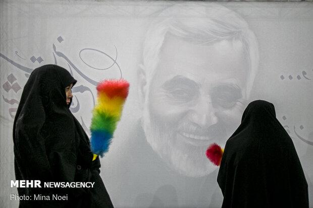 مراسم اربعین شهید سپهبد حاج قاسم سلیمانی و همرزمان شهیدش در تبریز