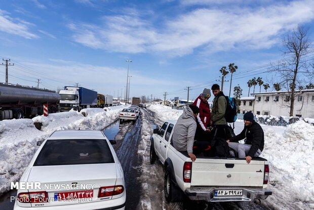 بحران بعد از بارش برف در رشت