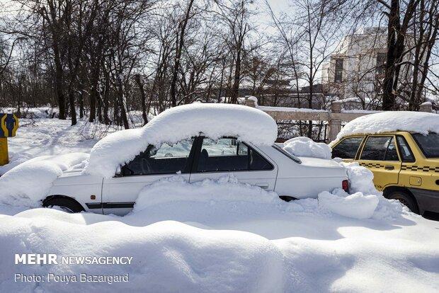 وضعیت شهر رشت با گذشت ۳ روز از بارش برف