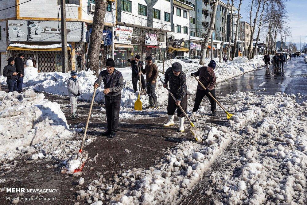 بحران مدیریت بعد از بارش برف در رشت