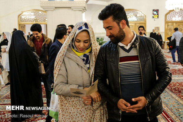 جشن ازدواج دانشجویی کاروان «همسفر تا بهشت» در مشهد مقدس