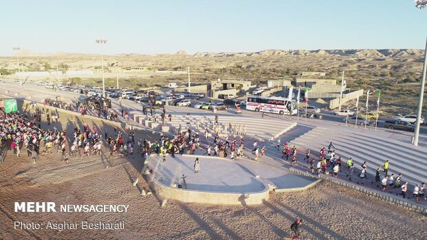 مسابقه دو ماراتن در جزیره قشم