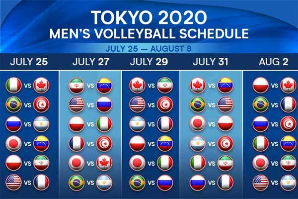 Iran volleyball's 2020 Olympics fixture revealed