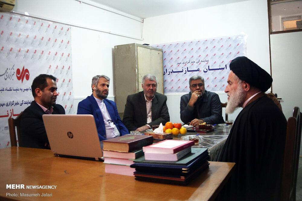 بازدید نماینده مردم مازندران در مجلس خبرگان از خبرگزاری مهر