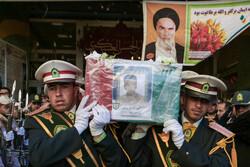 مراسم تشییع پیکر مطهر شهید «امیر رضا رمضانی» در مشهد