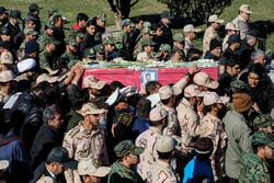 مشہد میں شہید امیر رضا رمضانی کی تشییع جنازہ