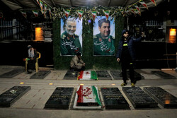 بروز جمعہ غروب کے وقت گلزار شہدائے کرمان کا منظر