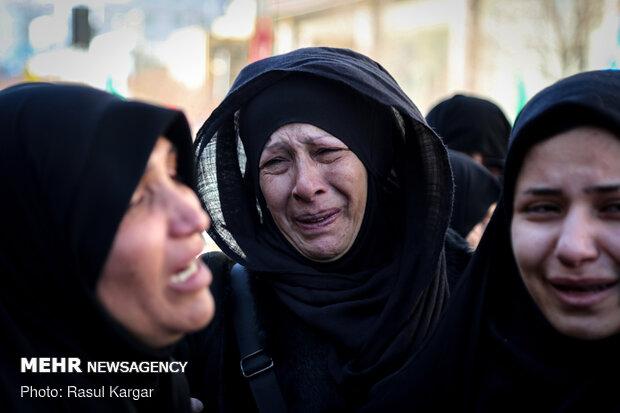 مراسم تشییع پیکر مطهر شهید امیر رضا رمضانی در مشهد