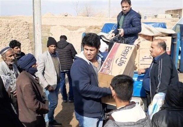توزیع کمکهای مردمی در ۳ روستای مرزی