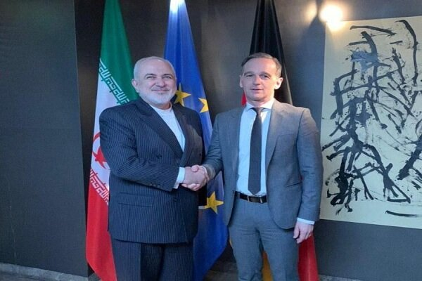 Zarif hold meeting with German counterpart on EU's commitments to JCPOA