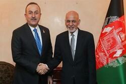 رئیس جمهور افغانستان با وزیرخارجه ترکیه دیدار و گفتگو کرد