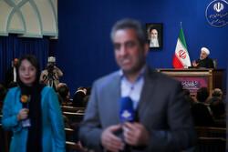 سهم بالای آمریکاییها در نشست خبری روحانی/ حذف سرود ملی از کنداکتور