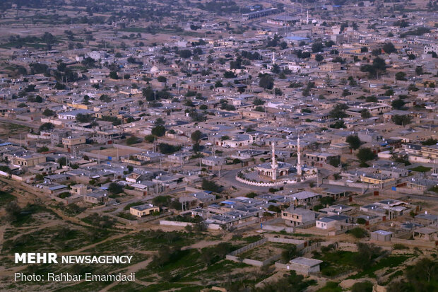 Aerial view of Hormozgan