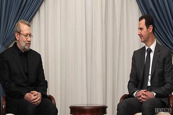 لاريجاني يؤكد مواصلة دعم بلاده لسوريا في مساعيها للقضاء على الإرهاب على أراضيها
