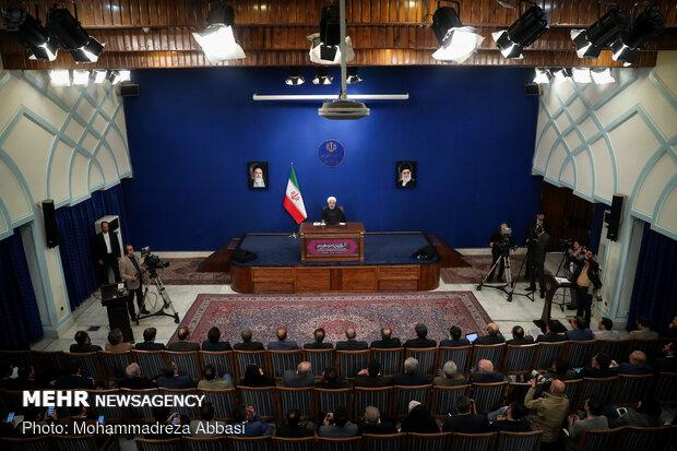 مؤتمر صحفی للرئيس روحاني
