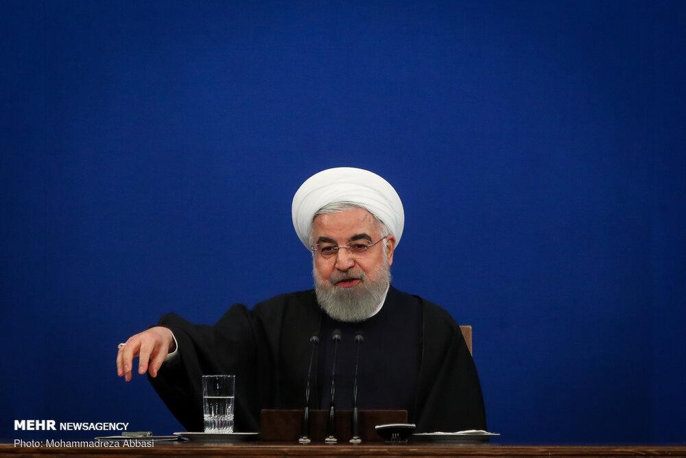 المؤتمر الصحفی للرئيس روحاني