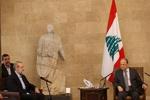 """لاريجاني يبحث مع """"ميشال عون"""" ضرورة توسيع العلاقات بين ايران ولبنان"""