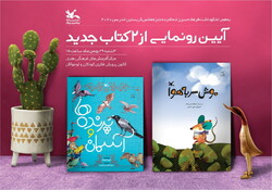 """A poster for an introduction ceremony for the books """"A Careless Mouse"""" and """"Birds and the Sky"""" at the Institute for Intellectual Development Children and Young Adults."""