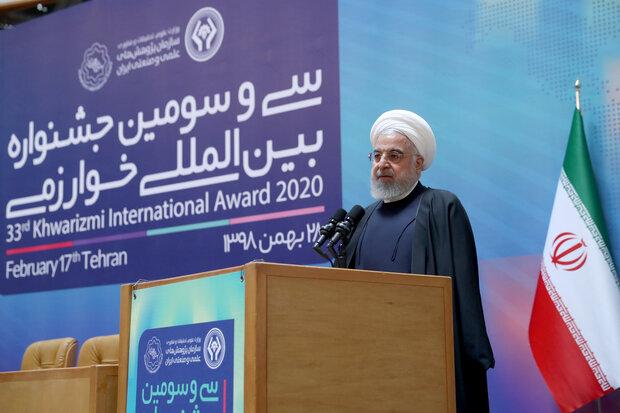 حسن روحاني: المؤشرات العالمية للإبداع في البلاد تطورت بنسبة 59 خطوة