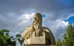 A bust of Persian poet and mathematician Omar Khayyam.