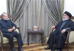 Larijani, Nasrallah discuss regional developments
