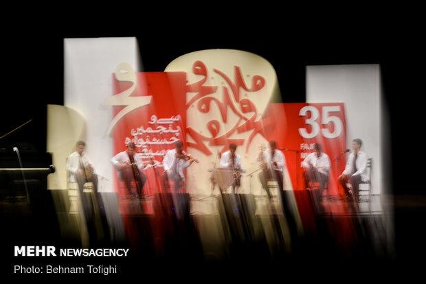 Winners of Navaye Khorram Music Festival perform at Fajr festival